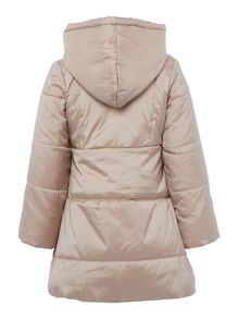 Girls long sleeve down jacket