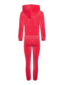 Girls terry velvet jogging set