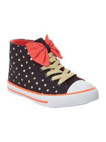 Girls polka dot trainer