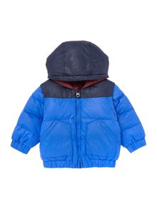Baby boys long sleeve reversible down jacket