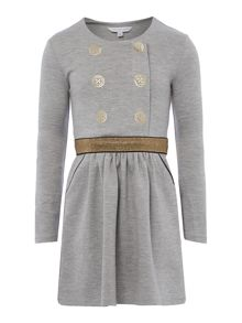 Girls milano long sleeve dress