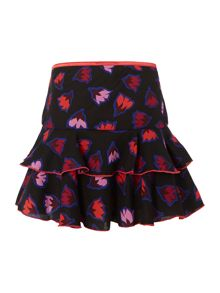 Girls crepe printed skirt