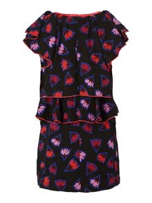 Girls printed dress and headband set