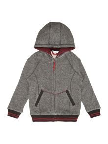 Boys fleece long sleeve zip hoody