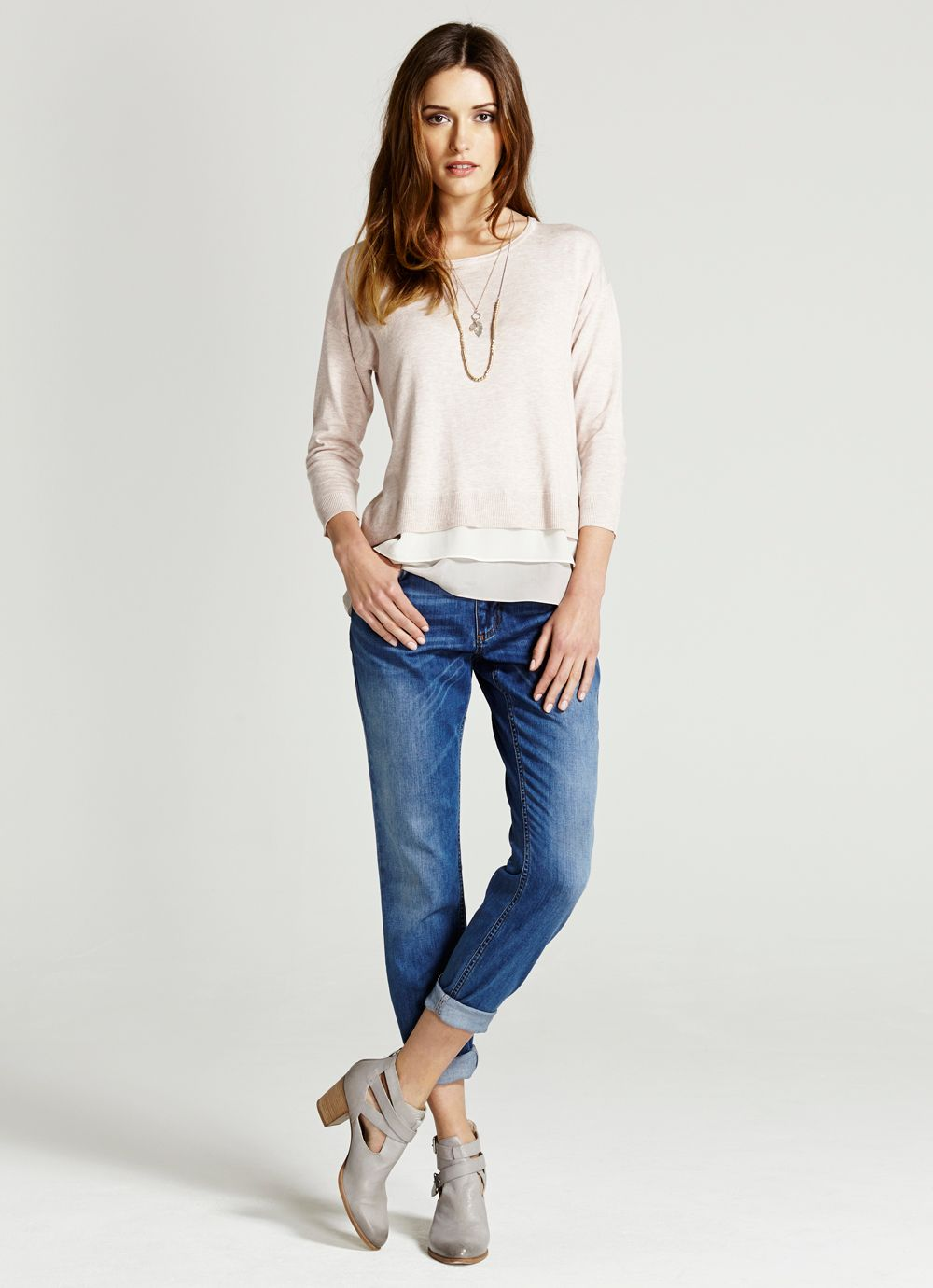 Nude Layer Hem Knit