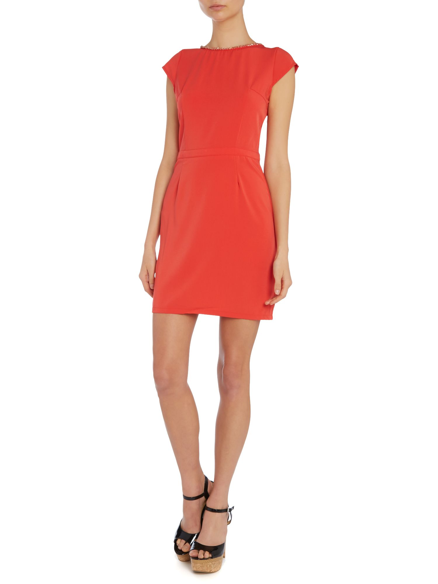 Cap Sl Cut Out Back Dress