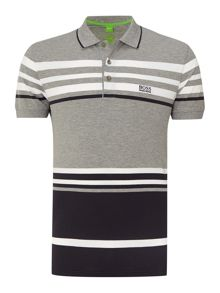Slim stripe short sleeve polo shirt