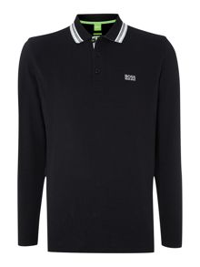 Plisy Long Sleeve Tipped Collar Polo