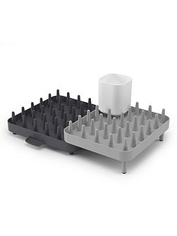 3-Piece Connect Adjustable Dishrack - Grey