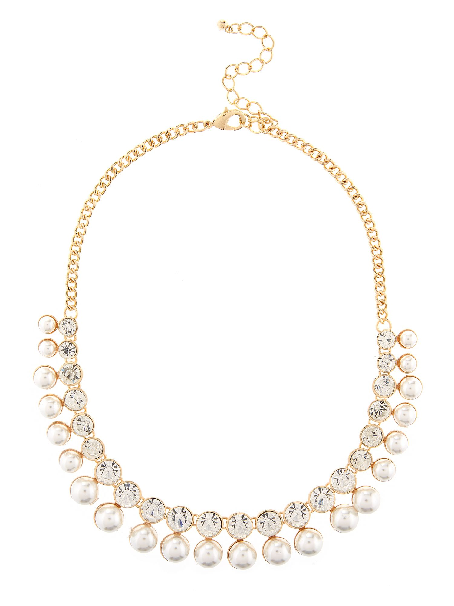 Pearl and glass bead necklace
