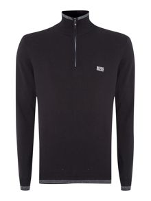 Zip up logo jumper