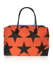 Africa multi colored star large weekend bag