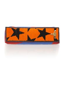 Africa multi colored star clutch bag