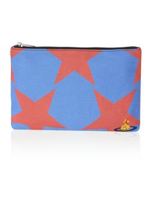 Africa multi coloured star pouch