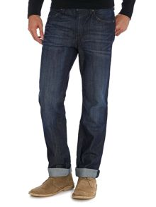 Deam zip fly slim leg jean