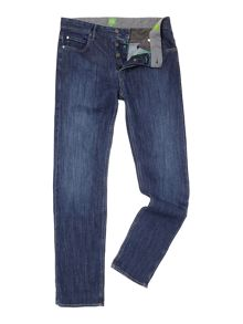 Deam zip fly light wash jeans