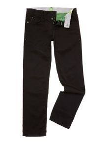 Deam zip fly slim leg black jeans