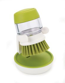 Joseph Joseph Palm Scrub Soap Dispensing Brush & Storage Stand