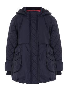Girls padded jacket with hood