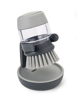 Palm Scrub Soap Dispensing Brush & Storage Stand