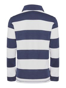 Boy`s stripe polo with applique