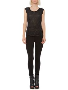 Nep side ruched tee