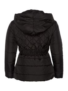 Girls padded jacket with belt