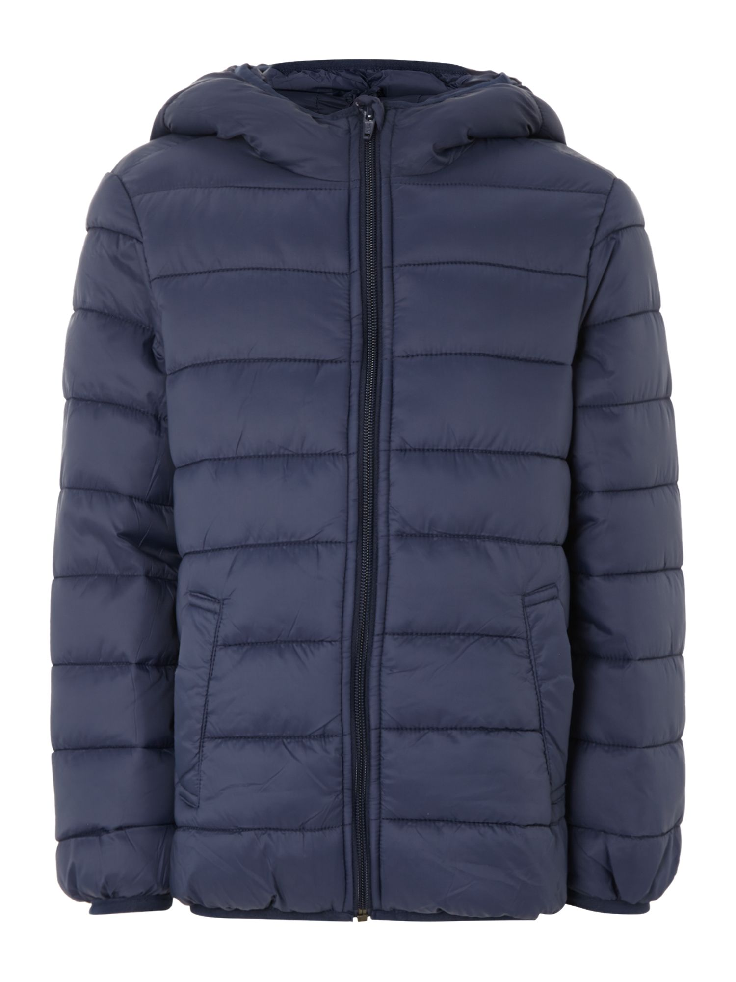 Boy`s hooded jacket with contrast colour lining