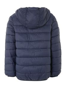 Benetton Boy`s hooded jacket with contrast colour lining