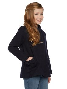 Girls sparkle wool coat