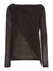 Nep long sleeve double layer top