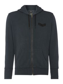 S-D-P military zip up hooded sweatshirt