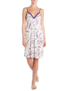 Linea Vintage floral printed jersey chemise