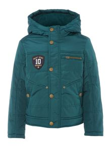 Boy`s hooded sports padded jacket