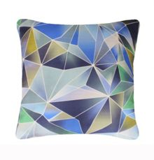 Nitin Goyal Stained Glass cushion in Blue 45x45