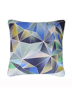 Stained Glass cushion in Blue 45x45