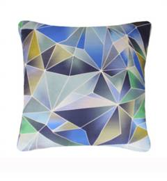 Nitin Royal Blue Stained Glass Cushion