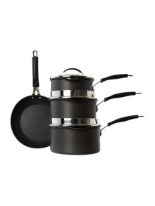 Cuisine Hard Anodised 4 piece pan set