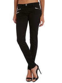 Skinny trousers with zip detail