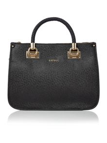 Anna black tote bag