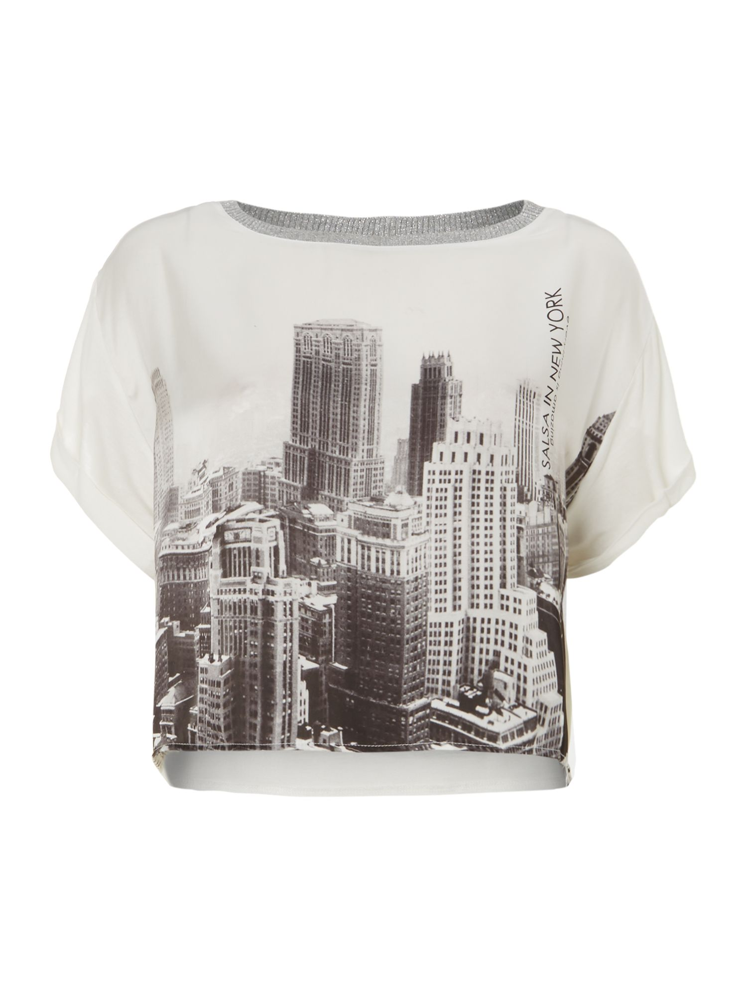 Sky scrapper cropped top