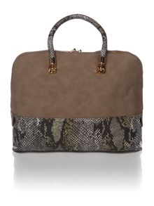 Febe python natural snake dome bag