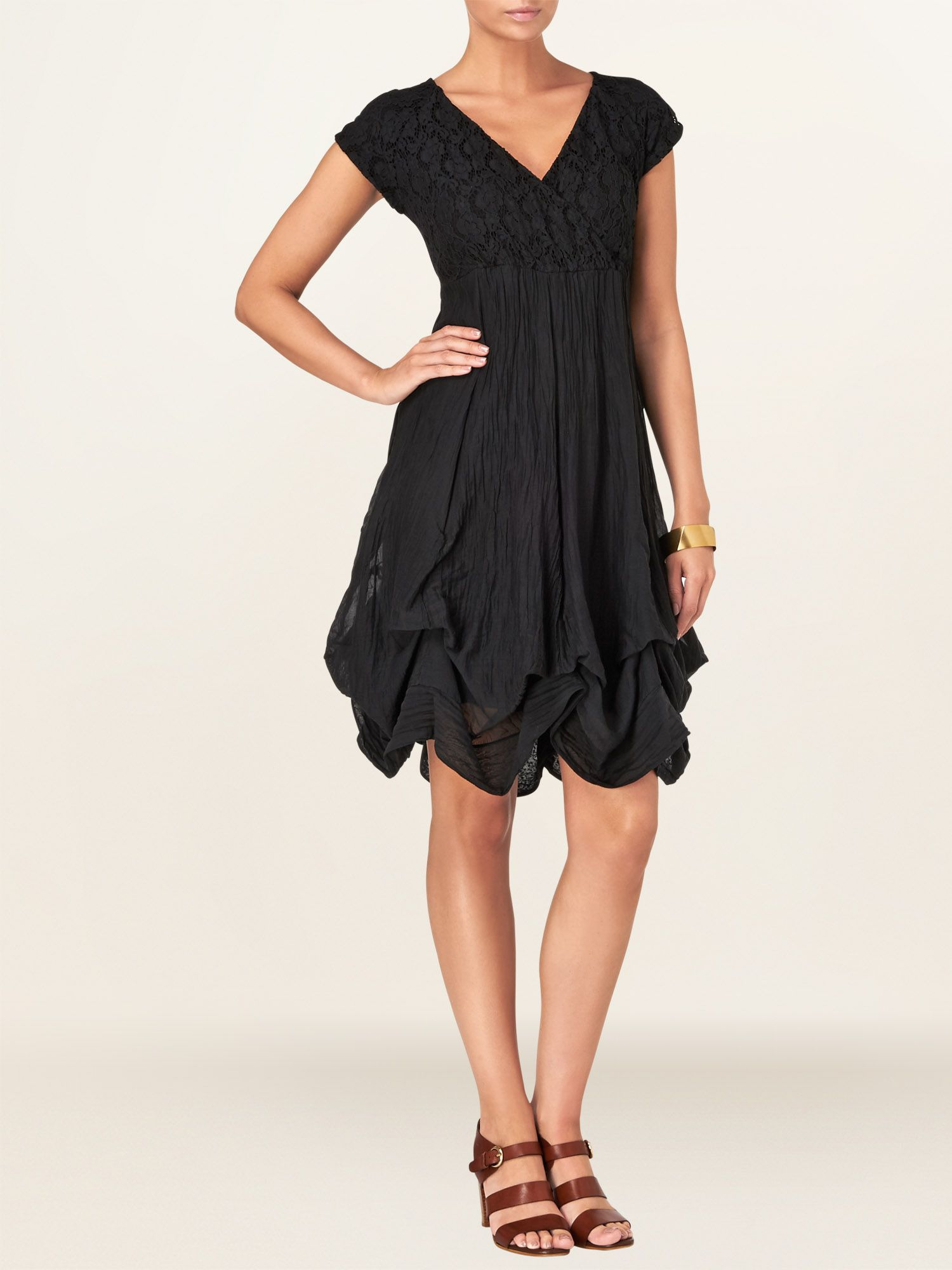 Yvette lace hook up dress