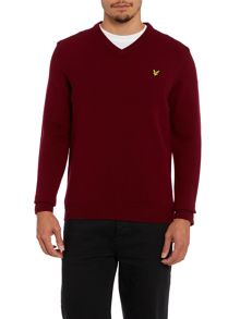 V neck lambswool jumper