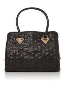 Jasmine black quilted bowling bag