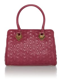 Jasmine pink quilted bowling bag
