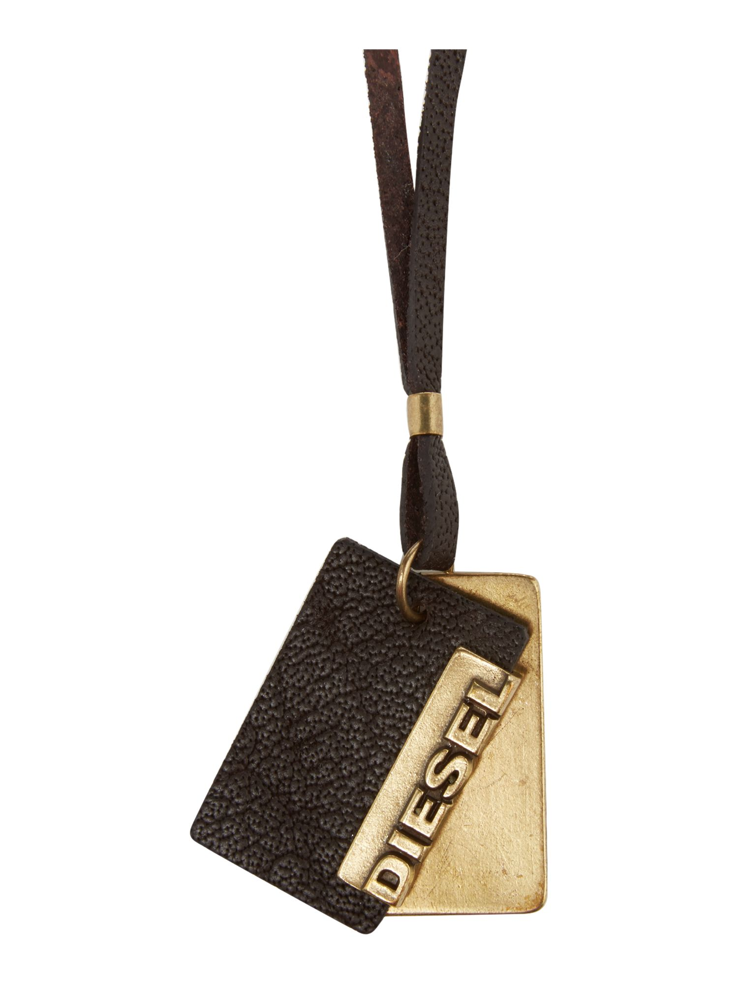 Leather and metal key fob
