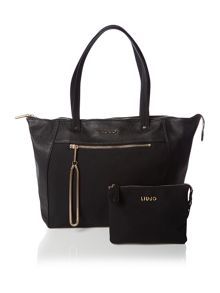 Febe black tote bag