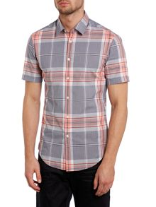 Short sleeved bright checked shirt