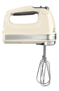 KitchenAid 9 Speed Hand Mixer Almond Cream